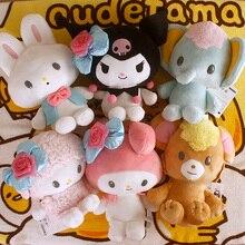 12CM Melody kuromi Rabbit Cartoon Plush Dolls Key Chain Doll Keyring Key Holder Pendant Unisex Gifts NEW