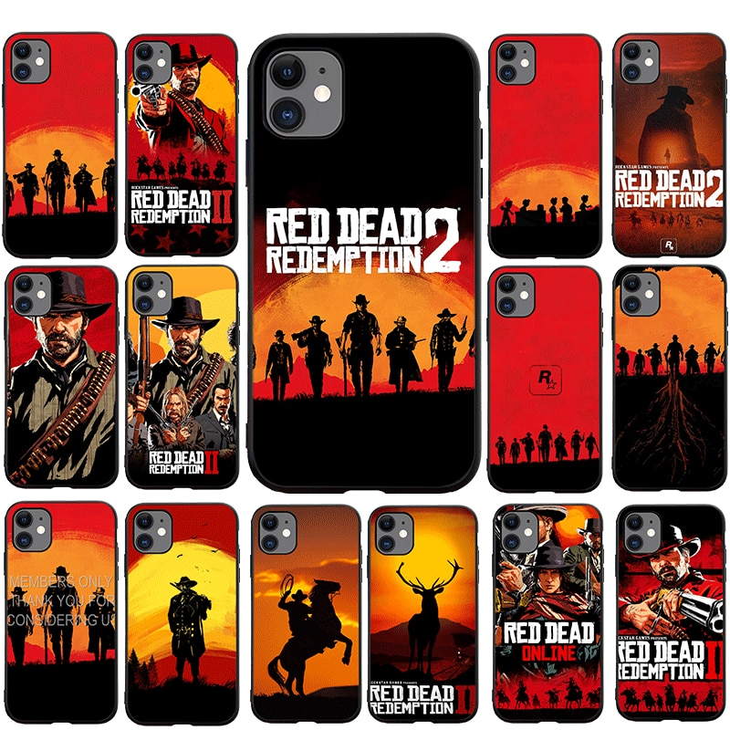 Red Dead Redemption 2 Soft Phone Case for iPhone 5 5s 6 6s 7 8 Plus X XS XR XS Max 11 Pro Max SE 12 Mini 12 Pro Max