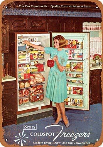 1965 coldspot congeladores placa de parede sinal