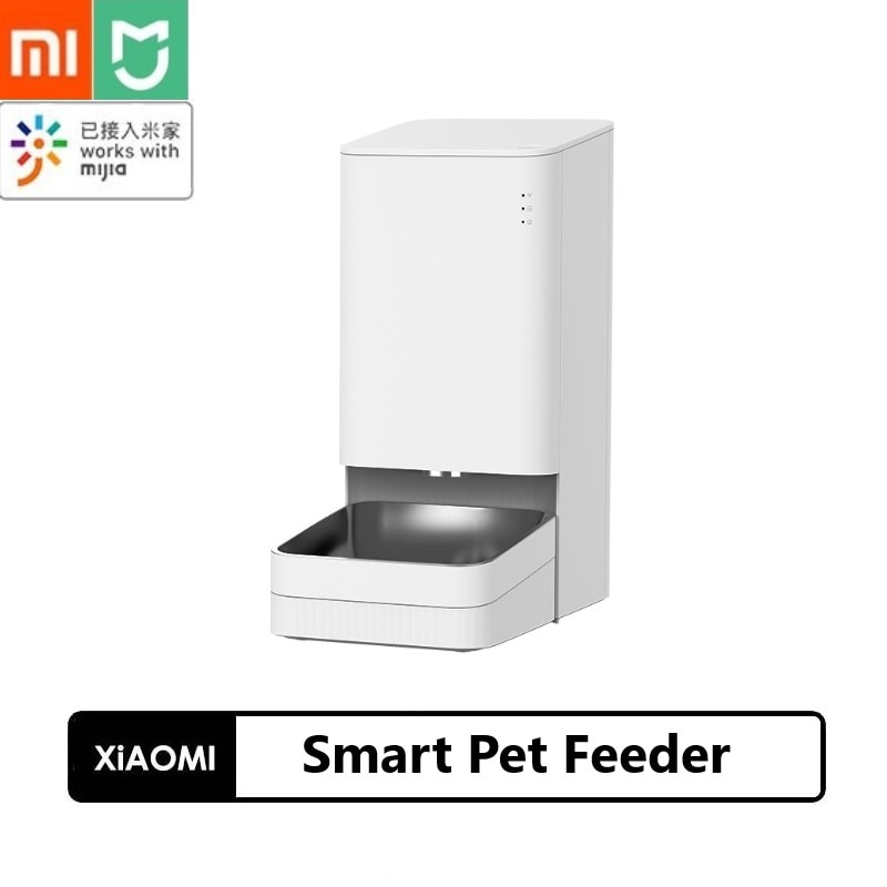 Promo Xiaomi  Smart Pet Feeder Cat Dog Remote Control Voice Control Quantitative Regular Automatic Feeding with Mijia App Pet