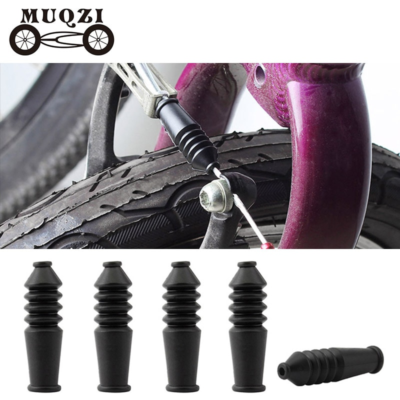 MUQZI 4 Uds bicicleta V Cable de freno Protector botas caucho Sleev MTB freno para bicicleta de carretera Línea interior mangas a prueba de polvo