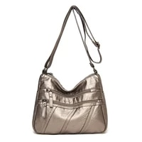 high quality womens handbags purses pu leather vintage fashion multi pockets bag bags universal women shoulder crossbody bags