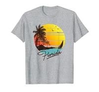 florida sunshine state retro summer tropical beach t shirt