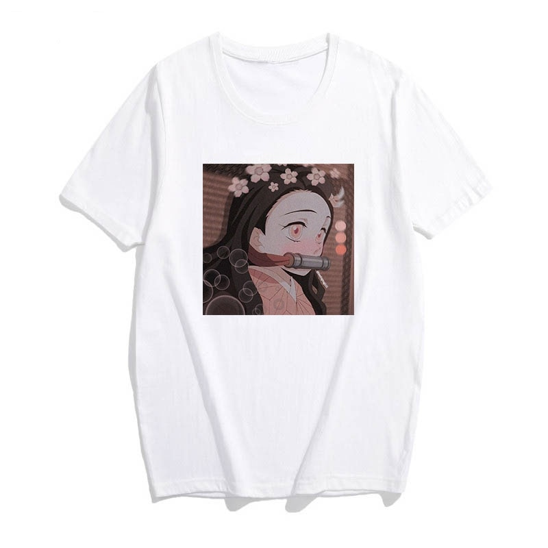 Camiseta de dibujos animados demon slayer, camiseta gráfica para mujeres, camisetas japonesas de anime, camiseta harajuku kawaii, camiseta punk, Top Ulzzang