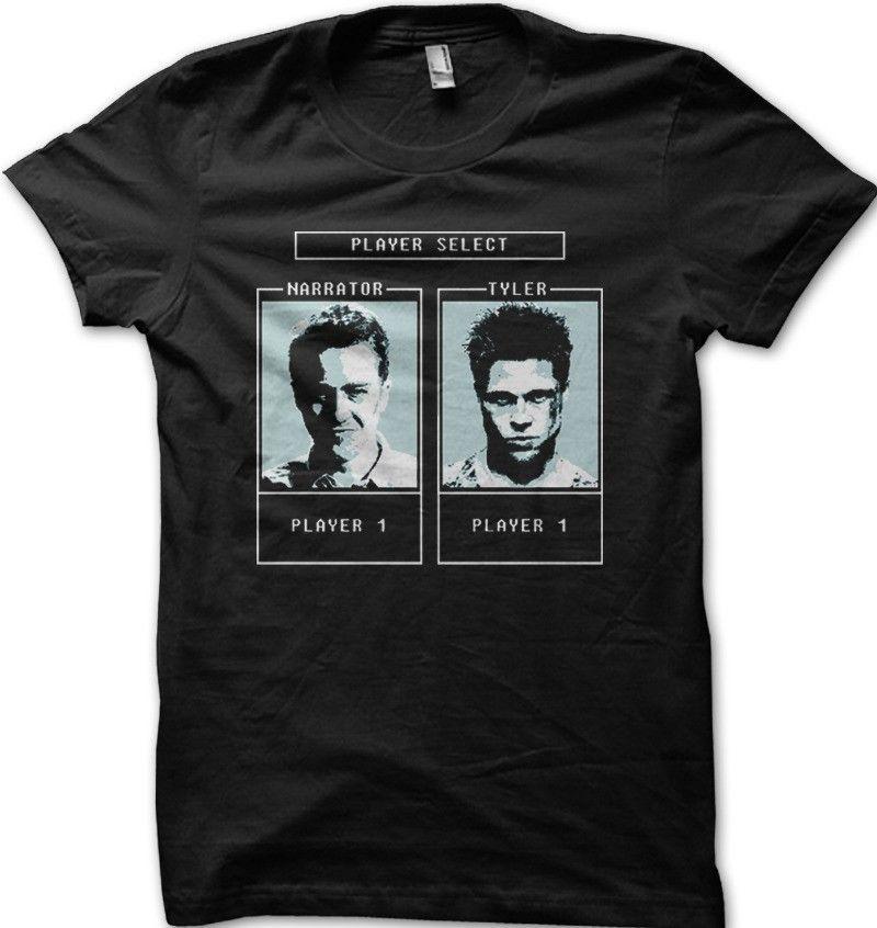 Fight Club Tyler Durden personaje selección juego camiseta ropa algodón camisas hombre manga corta personalidad alta calidad
