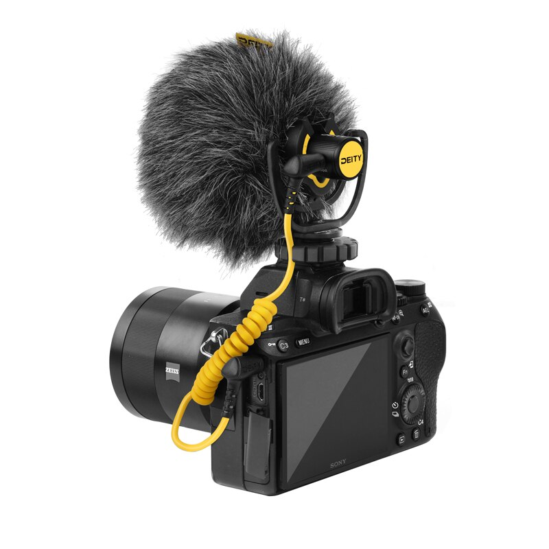 Deity V-Mic D4 Mini Microphone Compact Head Mic TRS 3.5MM with Shock Mount for DSLRs Smartphone Vlog Interview Video Recording enlarge