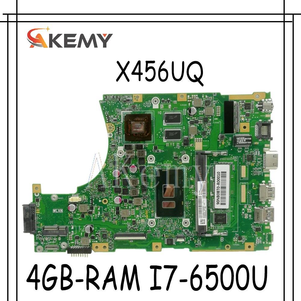 Akemy X456UQ اللوحة لابتوب Asus X456U X456UQ X456UB X456UQK X456UV اللوحة 4GB-RAM I7-6500U GT940M DDR4