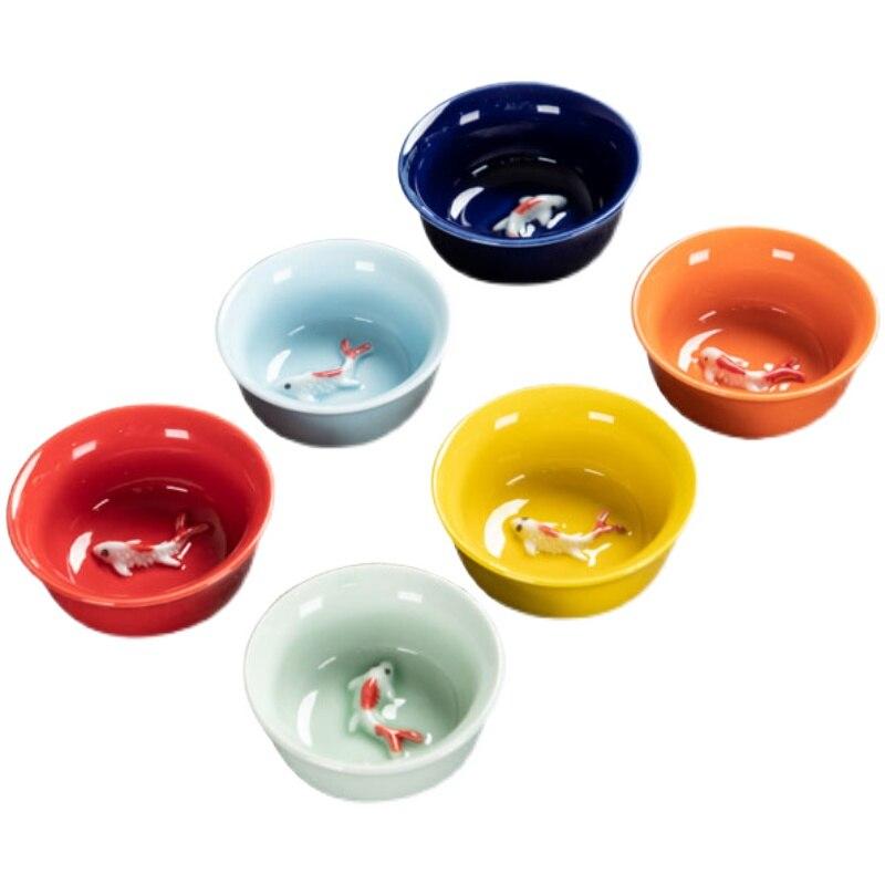 النمط الصيني فنجان الشاي الإبداعية بسيطة فاخرة أنيقة الكونغ فو الفن فنجان الشاي لطيف اليدوية Vaisselle Turque teبينة مجموعة DI50CB