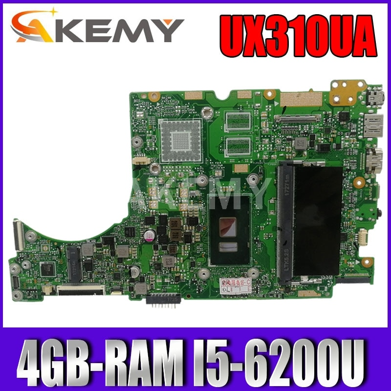 UX310UA اللوحة لابتوب ASUS UX310UQK UX310UQ UX410UQ UX410UQK UX310UV اللوحة الأصلية 4GB-RAM I5-6200U
