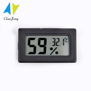 ChanFong Mini Black Digital LCD Temperature Humidity Meter Indoor Room Thermometer Hygrometer Temperature Sensor Humidity
