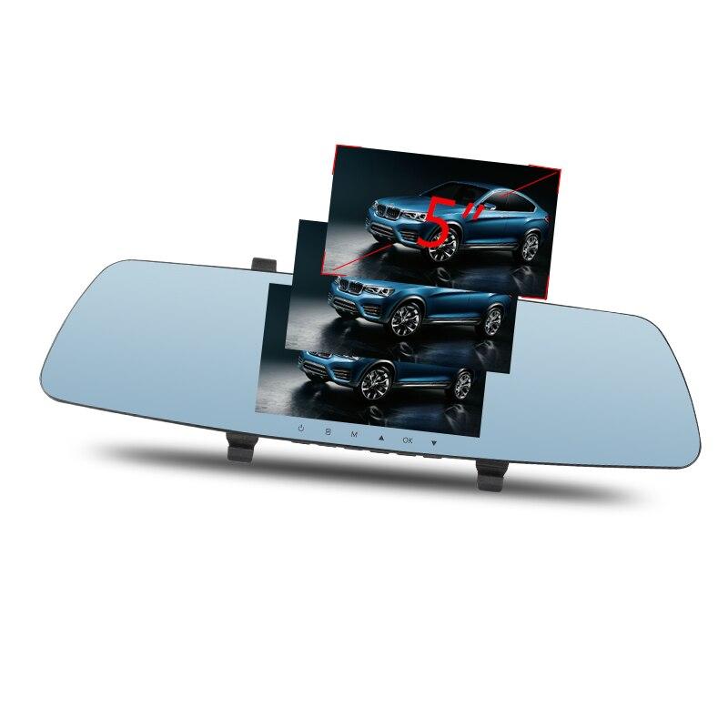 Tamaño de la pantalla 5 pulgadas IPS alto brillo (500CD) cámara de coche DV full HD 1080P cámara automática espejo retrovisor con DVR y cámara