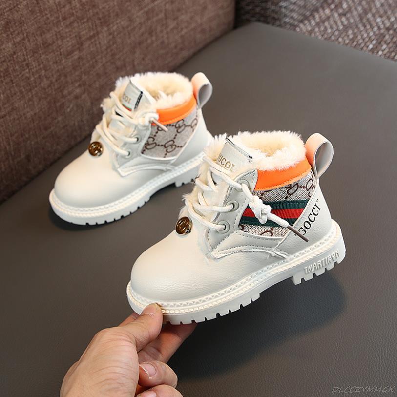 Новые модные кожаные ботинки для девочек и мальчиков 2021, Детские одноботинки с мягкой подошвой, зимние теплые детские удобные ботинки Martin