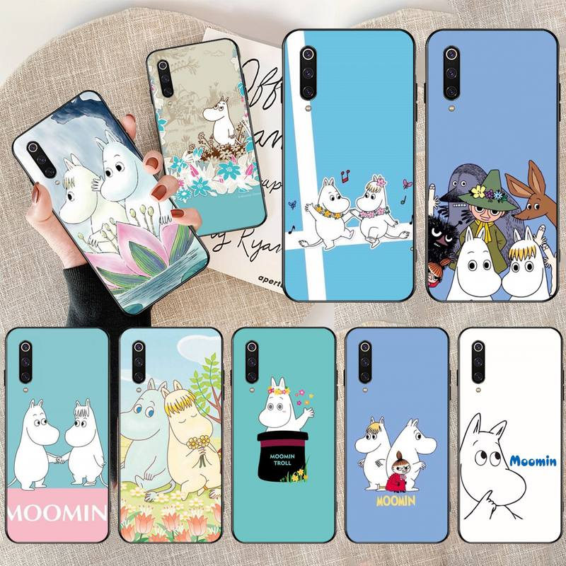 Penghuwan hipopótamo moomin bonito anima caso de telefone capa para xiaomi mi9 9se 8se pocophone f1 mi8 lite