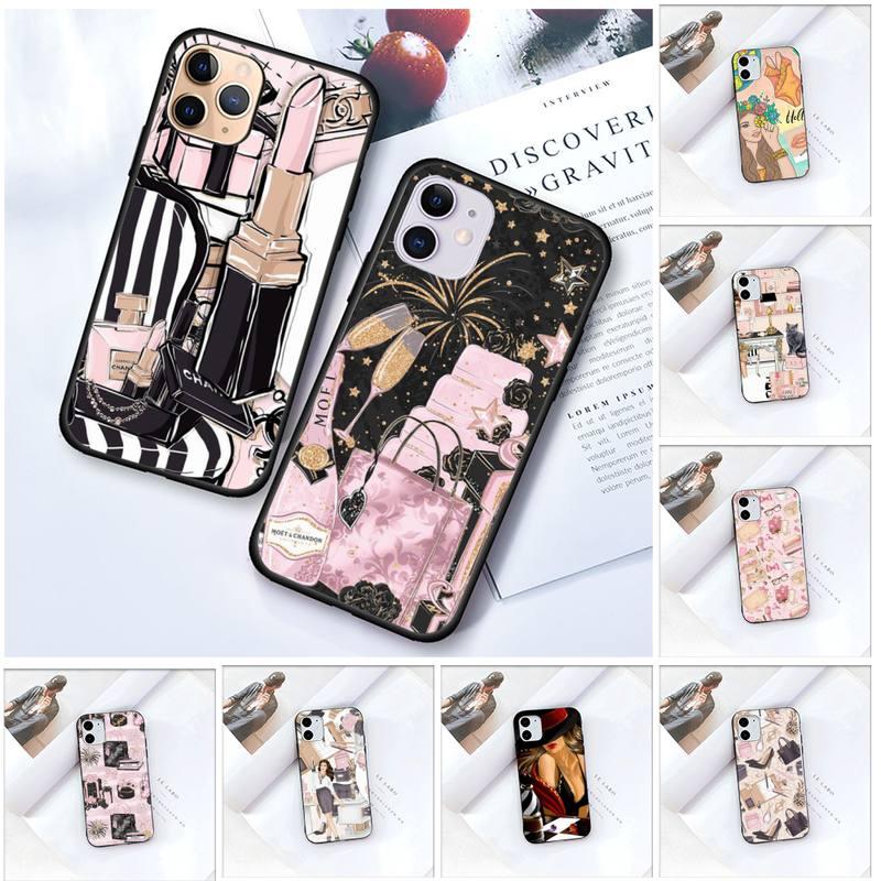 Zororong Fashion Woman Girl Cosmetic Makeup Phone Case For iPhone 12 Mini 11 Pro XS Max X XR 7 8 Plu