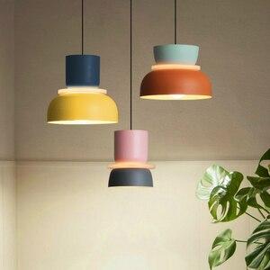 Modern Led Pendant Light Nordic Minimalist Bedside Creative Bedroom Study Cafe Bar Dining Room Hanging Lighting Macaron Lamps