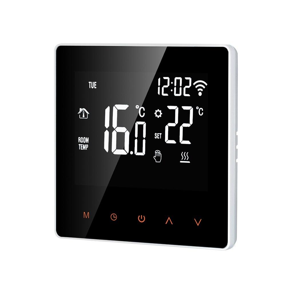 Thermostat 16A Wi-Fi/KEINE WIFI Orange/Weiß Smart Thermostat Digitale Temperatur Controller APP Control LCD DisplayTouch Bildschirm