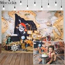 Навигации пиратский флаг сокровище для фотосъемки с изображением Приключения карта Baby Shower День рождения фон для студийной фотосъемки