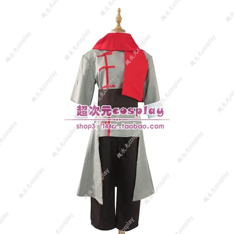 Anime Airbender Mako Cosplay Costume Grey Version For Men Women Halloween Carnival Costumes