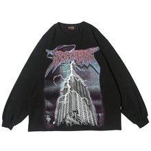 Éclairage graphique à manches longues t-shirts gothique Punk Rock t-shirts hommes Hip Hop Streetwear Goth 2020 printemps tendances Clohes haut
