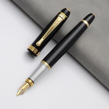 BAOER stylo plume De luxe noir Encre stylo Dolma Kalem Caneta Tinteiro Pena Plumas Estilográficas Encre De Chine Pour Calligraphie