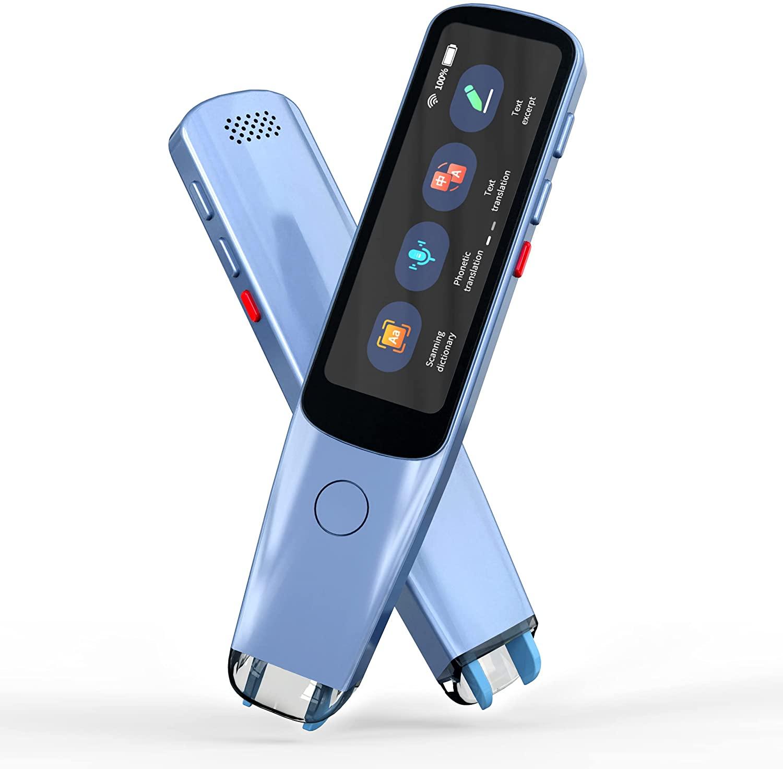 قلم ترجمة الصور الصوتية الفورية الذكية مترجم المسح الضوئي 2.98 بوصة شاشة تعمل باللمس واي فاي دعم غير متصل بالانترنت 112 لغة الترجمة