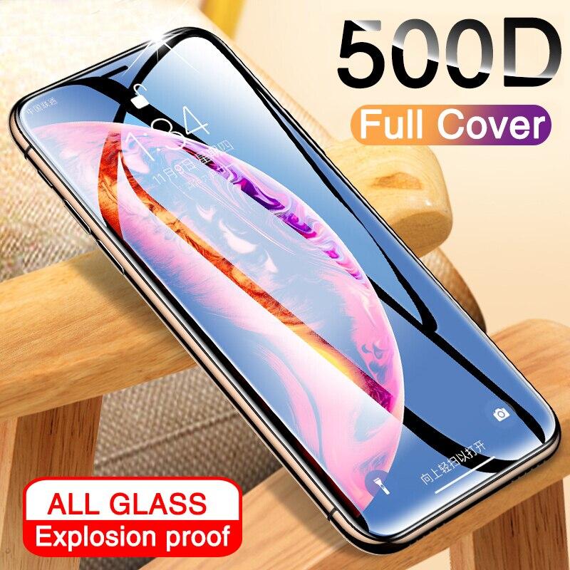 500D מלא כיסוי מזג זכוכית עבור iphone 11 פרו X XR XS מקס זכוכית iphone 11 פרו מסך מגן מגן זכוכית על iphone 11