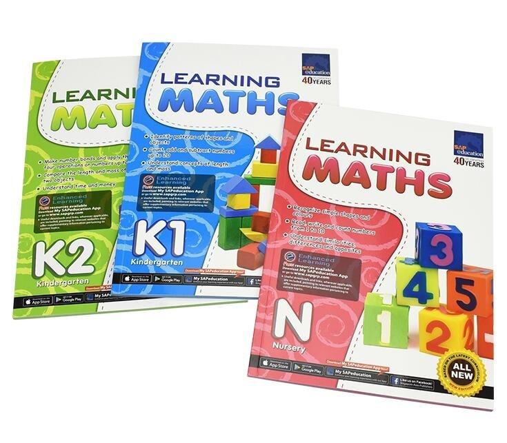 3 Pcs/Set Sap Learning maths Book Children Mathematics Singapore kindergarten Textbook kids learning