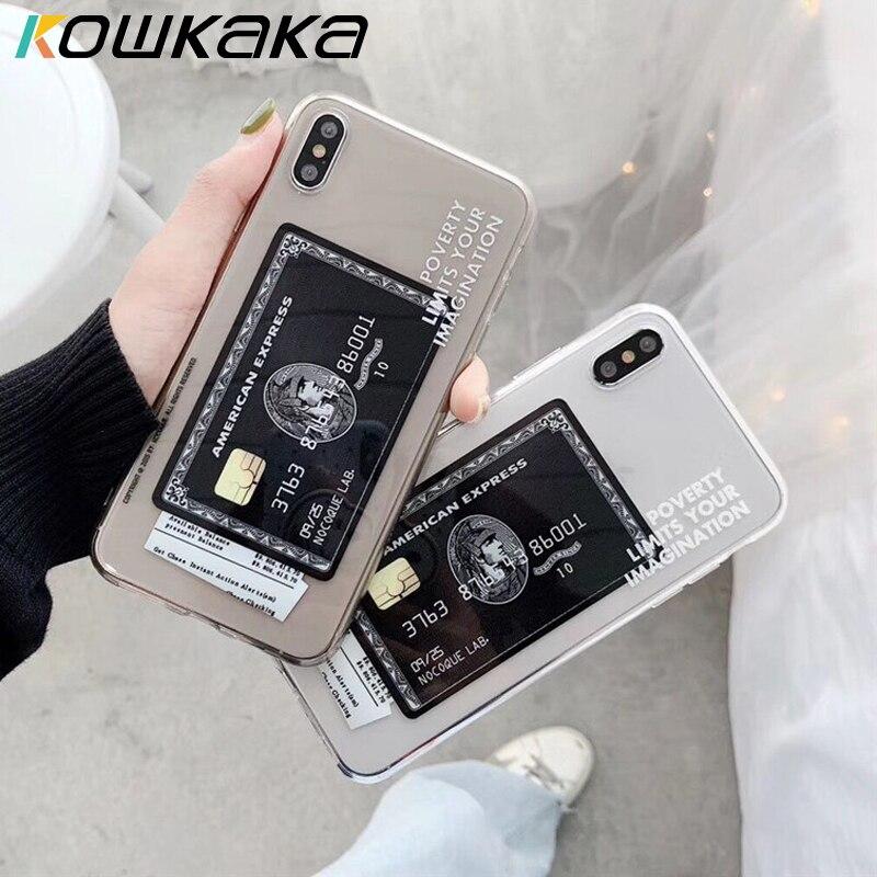 Kowkaka transparente teléfono caso para iPhone 11 Pro Max X XR XS Max 5 5s SE 6 6s 7 8 Plus Vintage con estampado suave TPU Shell
