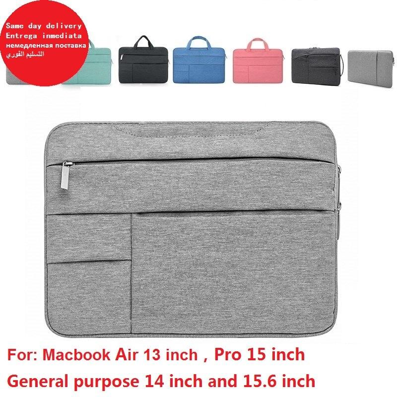 Moderna funda impermeable de fibra de poliéster para portátil, funda de portátil de 13 pulgadas y 15 pulgadas para macbook air, nueva bolsa para portátil con cremallera pro retina