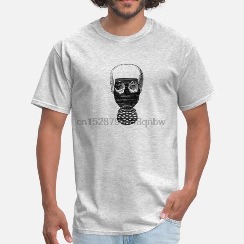 New Arrival Halloween Skull Gas Mask Chemistry T-Shirt For Men 100% Cotton O-Neck Kawaii Tshirt Short-Sleeve Gents Tee Tops