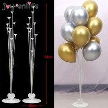 Ensemble de 2 bâtons joyeux anniversaire   Bâton support de ballons, bâton cœur en plastique, colonne pour décoration fête prénatale mariage