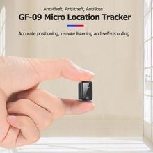 GF09 جهاز تحديد المواقع صغير الموقع المقتفي دقيقة في الوقت الحقيقي جهاز تعقب محدد عن بعد تسجيل الصوت واي فاي + LBS + AGPS مكافحة خسر