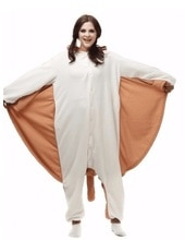 Kigurumi adulto esquilo voador adulto pijamas onesies animal natal carnaval traje com capuz pijamas cosplay traje