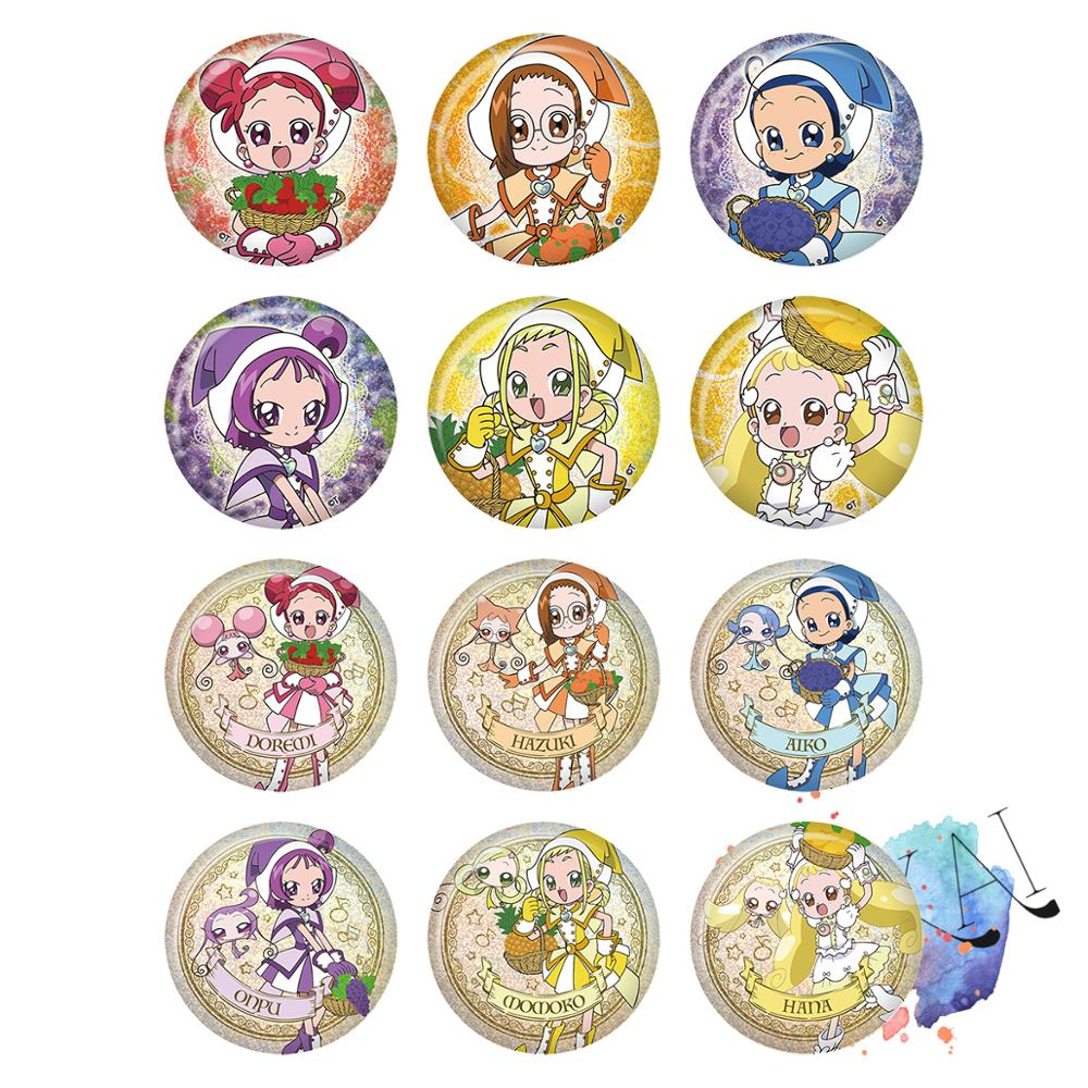 Magical DoReMi Anime Badge Game Hazuki Aiko Onpu Momoko Hana Ojamajo DoReMi Metal Badge Brooch Pins