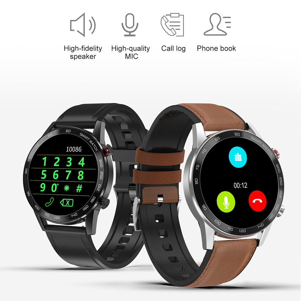 For Huawei Xiaomi Android Apple Phone Smartwatch 2021 Men 360*360 ECG PPG Smart Watch Men Android Bluetooth Call IP68 Waterproof