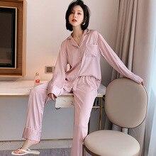 European and American Big Style Pajamas Bag Pocket Pajamas Set Ice Silk Home Service Can Be Worn Outside Three-piece Suit Pijama