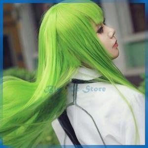 CODE GEASS CC Wig Lelouch of the Rebellion Green 100cm Long Straight Cosplay Hair Enkidu Comiket Show Halloween Adult