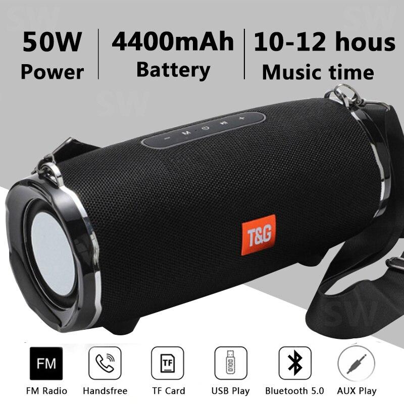 Altavoz Bluetooth de alta potencia de 50 W TG187 Columna porttil a...