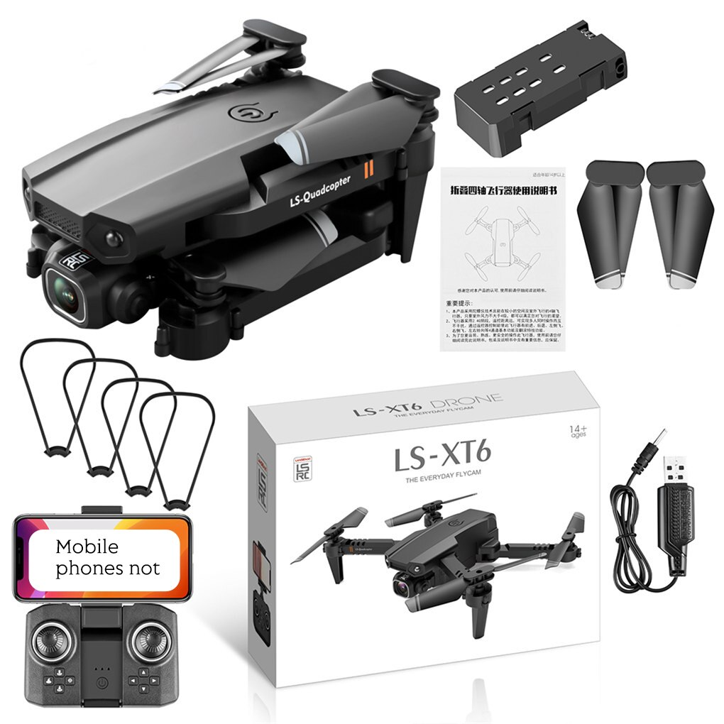 New Drone 4k Double Camera HD XT6 WIFI FPV Drone Air Pressure Fixed Height four-axis Aircraft RC Hel