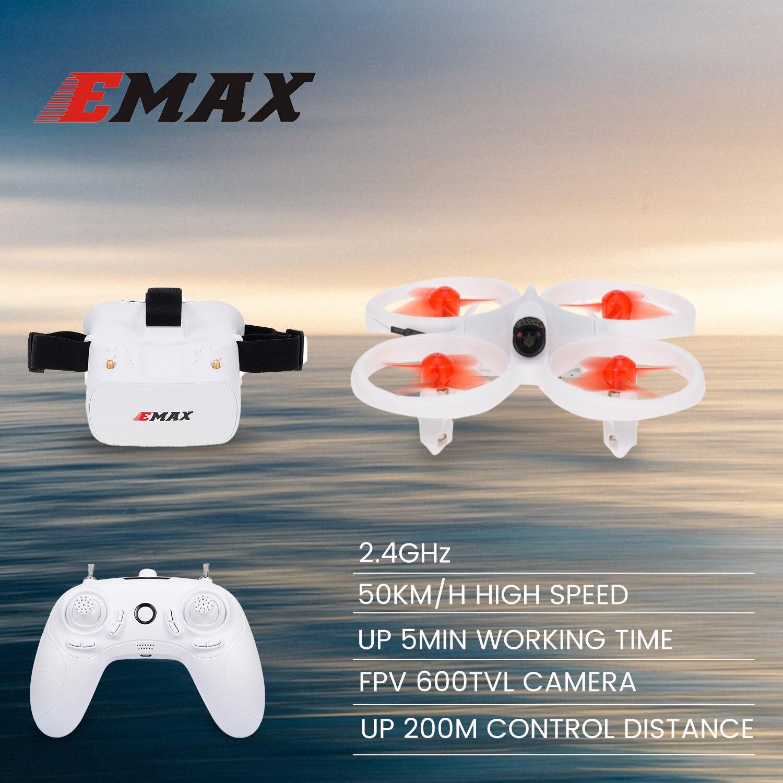 EMAX EZ Pilot Drone interior FPV Racing Drone con 600TVL Cámara velocidad 3 niveles giroscopio Auto-nivelado con FPV gafas Drone juguete