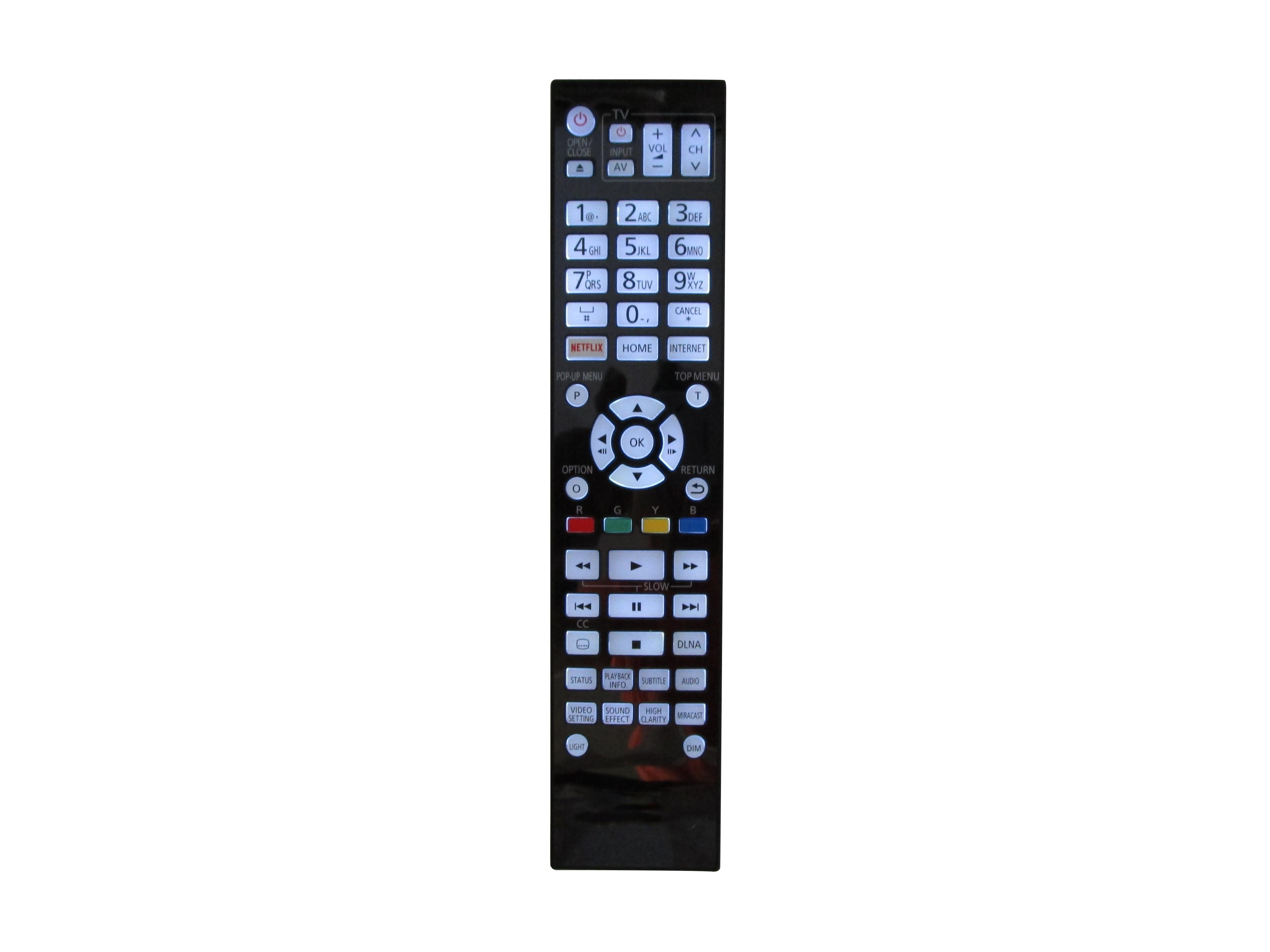 Controle remoto para panasonic n2qaya000131 DMP-UB900 DMP-UB900-K DMP-UB900EBK ultrahd 4k blu-ray dvd disc player