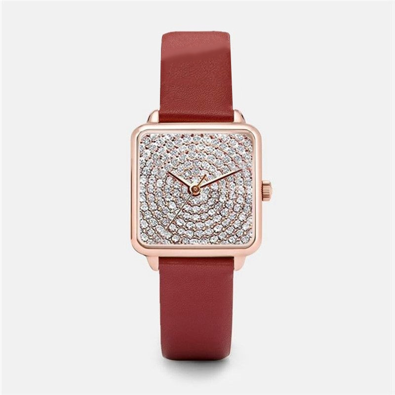 Luxury Watch For Women Fashion Leather Band Diamond Quartz Clock Waterproof Ladies Watches Female Wristwatch Hodinky Reloj Mujer 2020 women watches top brand luxury quartz watch leather strap fashion wristwatch for women clock ladies hodinky reloj mujer