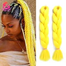 Dream Like Pre Stretched Long Braiding Hair Extensions Synthetic Crochet Hair High Tempreture Fiber Jumbo Hair Braids For Women