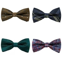 vangise brand wholesale 2021 new style nice handmade silk 4 pcslot bow tie solid dropshipping men new years day fit wedding