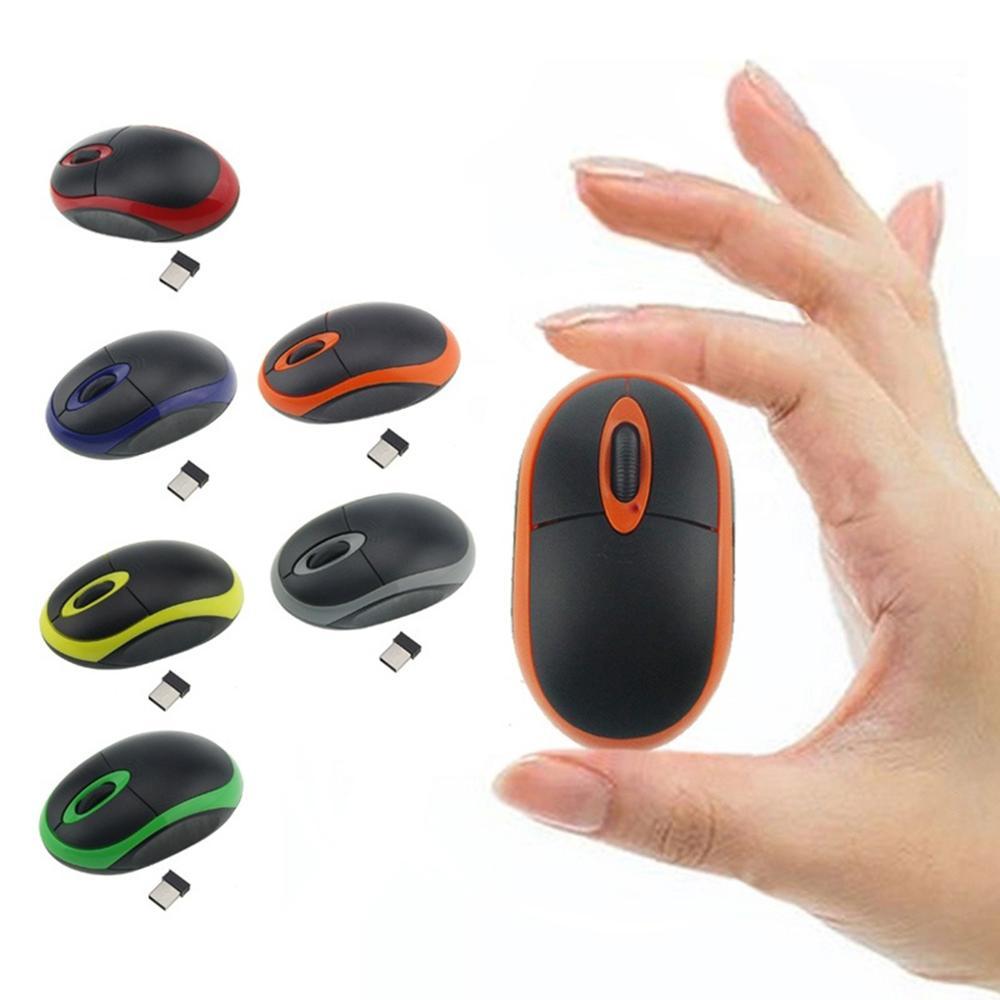 Receptor USB, Mini ratón óptico inalámbrico de 2,4 GHz, ratón inalámbrico colorido para oficina, ratón inalámbrico para ordenador PC y ordenador portátil