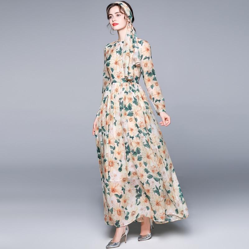 ZUOMAN Women Elegant Floral Dress Festa High Quality Long Maxi Prairie Chic Party Robe Femme Vintage