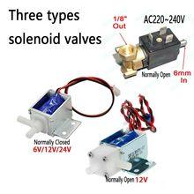 Micro électrovanne électrique AC220V ~ 240V 6mm   Vanne N/O normalement ouverte pour la machine à café, vanne de débit deau 6V12V24V