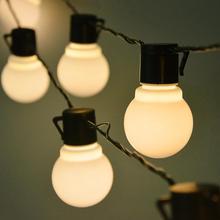 2,5 м 5 м 10/20 светодиодные лампы струны наружного освещения водонепроницаемый настенный светильник Свадьба День рождения украшение сада 110 В 220 В