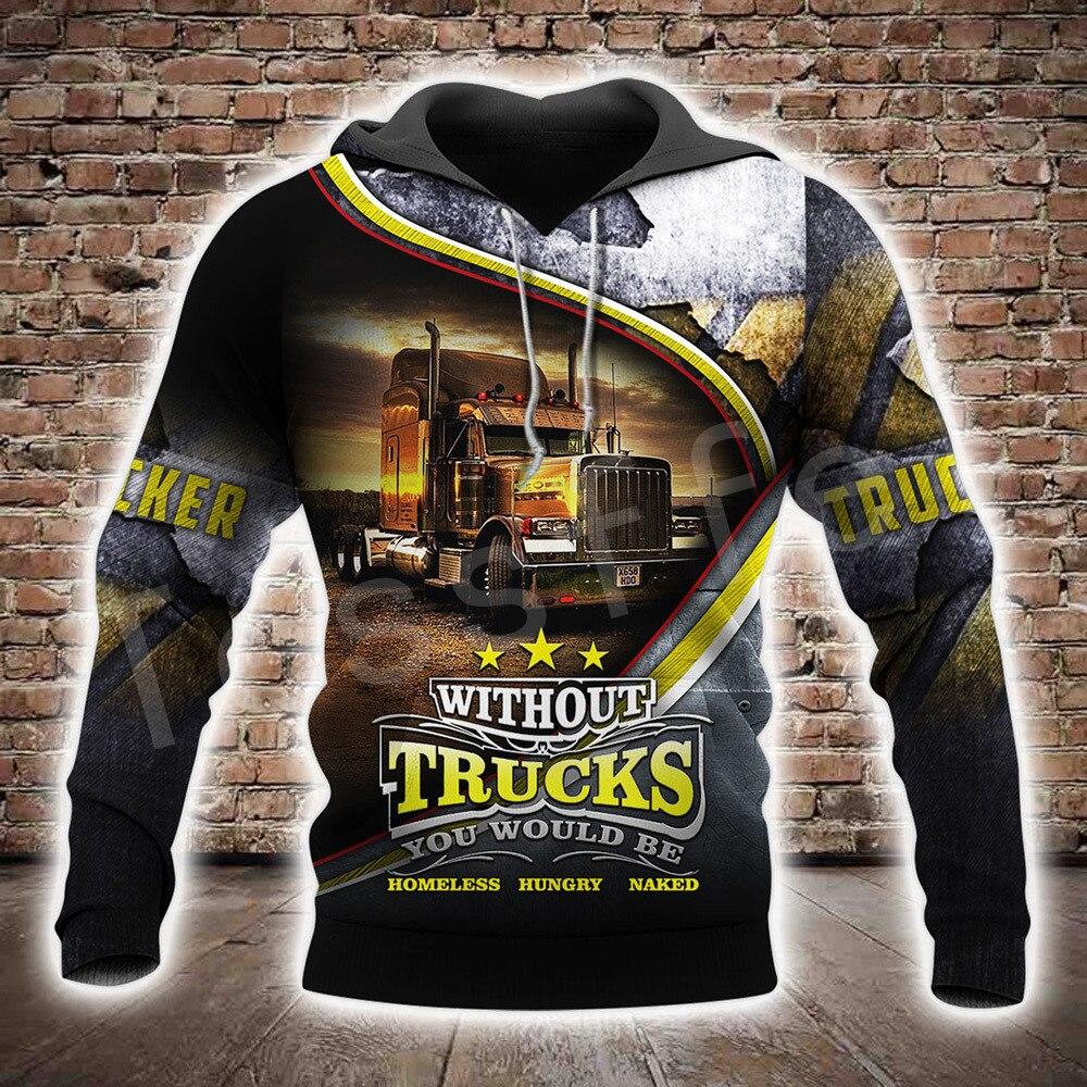 Tessffel Lkw Trucker Fahrer Pullover Trainingsanzug NewFashion Crewneck Casual MenWomen 3Dprint Sweatshirts/Hoodies/Zip/jacke A-5