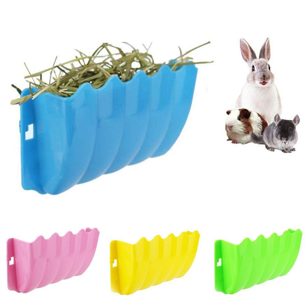 Hot Sale Small Pet Rabbit Hanging Grass Feeder Rack Shelf Hay Bowl Holder Box Dispenser Grass Storage Container